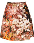 Carven Tree Print Skirt - Lyst