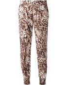 Sam & Lavi Leopard Print Trousers - Lyst