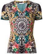 Versace Baroque Aztec Print T-Shirt - Lyst