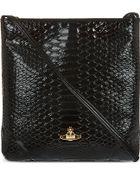 Vivienne Westwood Patent Snake-Embossed Cross-Body Bag - Lyst
