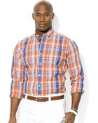 Polo Ralph Lauren Polo Big and Tall Longsleeve Plaid Poplin Shirt - Lyst