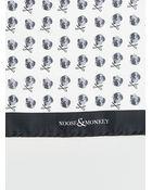 Topman Noose And Monkey White Skull Print Pocket Square* - Lyst