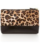 Forever 21 Faux Leather-Paneled Leopard Clutch - Lyst