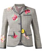 Thom Browne Floral-Embroidered Wool and Silk-Blend Jacket - Lyst