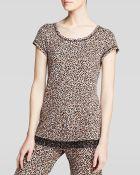 Kensie Chai Animal Print Short Sleeve Pajama Top - Lyst