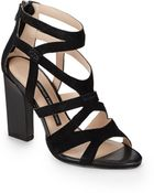 French Connection Suede Caged Sandals - Lyst