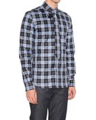Givenchy Check Shirt With Star Detail - Lyst