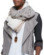 Eileen Fisher Sparkle Striped Infinity Scarf - Lyst