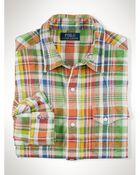 Polo Ralph Lauren Plaid Jersey Sport Shirt - Lyst