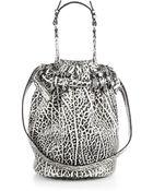 Alexander Wang Diego Pebbled Leather Bucket Bag/Silvertone - Lyst