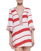 ViX Helen Striped Tunic Coverup - Lyst