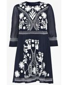 French Connection Kiko Stitch Embroidered Dress - Lyst