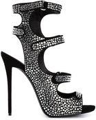 Giuseppe Zanotti Platform Glitter Sandals - Lyst