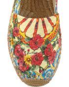 Dolce & Gabbana Printed Brocade Espadrilles - Lyst