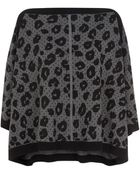 Juicy Couture Cheetah Print Poncho Sweater - Lyst