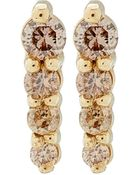 Anna Sheffield Gold Pave Pointe Stud Earrings - Lyst