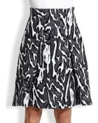 Proenza Schouler Flock Printed Crepe Skirt - Lyst
