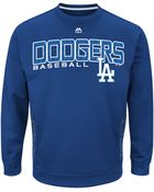 Majestic Mens Los Angeles Dodgers Crew Sweatshirt - Lyst