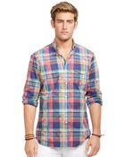 Polo Ralph Lauren Overprinted Poplin Bleecker Shirt - Lyst