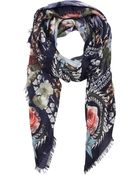 Givenchy Birds Of Paradise, Peonies & Chain Scarf - Lyst