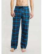 Topman Blue Tartan Flannel Pyjama Bottoms - Lyst