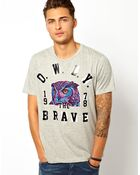Diesel T-Shirt T-Crown Owly The Brave - Lyst