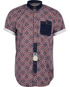 River Island Red Holloway Road Tile Print Shirt - Lyst