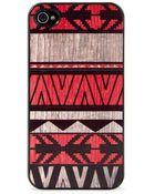 Blissfulcase Iphone 4 Aztec Geo Art Red Wood Print Case - Lyst