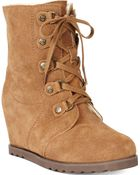BEARPAW Bonnie Cold Weather Wedge Booties - Lyst