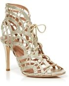 Joie Open Toe Caged Ghillie Lace Up Sandals - Leah High Heel - Lyst