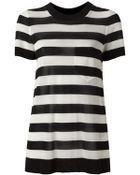 Ermanno Scervino Striped Sweater - Lyst