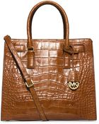 MICHAEL Michael Kors Dillon Leather Large North South Tote - Lyst