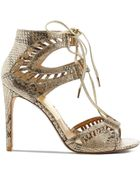 Dolce Vita Open Toe Ghillie Lace Up Sandals - Henlie High Heel - Lyst