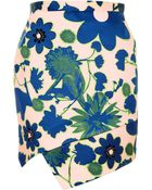 Topshop Embellished X-Ray Flower Skirt - Lyst