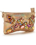 Moda In Pelle Embellished Clutch Bag - Lyst