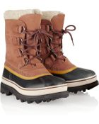 Sorel Caribou Suede And Waterproof Rubber Boots - Lyst