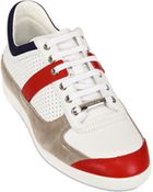 Dior Homme Perforated Leather And Suede Sneakers - Lyst