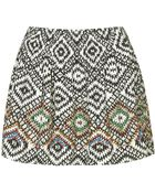 Topshop Aztec Beaded Skirt - Lyst