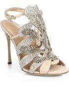 Sergio Rossi Matisse Swarovski Crystal Sandals - Lyst