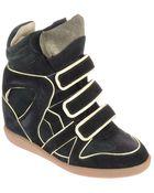 Etoile Isabel Marant Wila Sneakers Nera Con Profili A Contrasto - Lyst