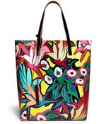 Marni Tropical Floral Canvas Tote - Lyst