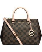 Michael Kors Michael Sutton Checkerboard Medium Satchel - Lyst
