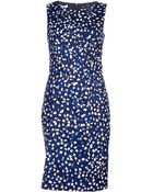 Oscar de la Renta Jewel Neck Dress - Lyst