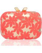 Kotur Margo Floralembroidered Minaudiere Pinkgold - Lyst