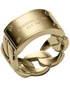 Michael Kors Curb-Chain Logo Ring - Lyst