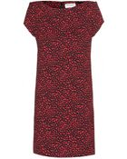 Saint Laurent Printed Crepe Dress - Lyst
