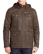 Guess Hooded Weathered-Look Jacket - Lyst