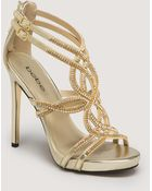 Bebe Tamia Jewel Strappy Sandals - Lyst