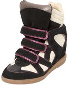 Isabel Marant Etoile 80Mm Wila Suede Wedge Sneakers - Lyst