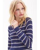 Forever 21 Striped Raglan Sweater - Lyst
